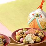 限定6000箱!小倉山荘の春ひいなは、チョコあられ入りで子供にも好評!