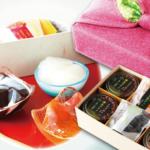 加賀彩の詰め合わせはプリンとジュレの内容が選べます!上品な風呂敷で包まれるのも嬉しい。